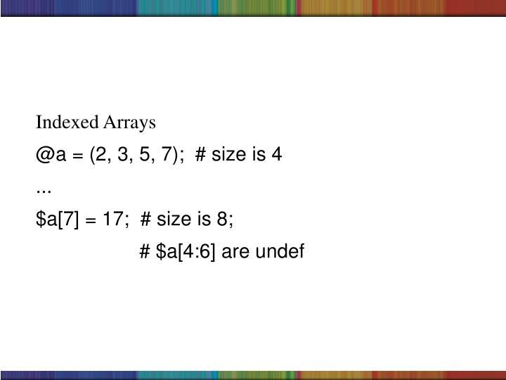 Indexed Arrays