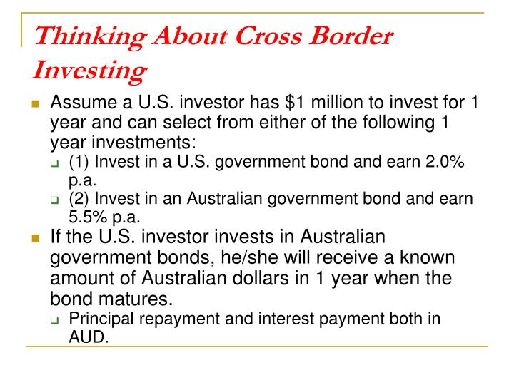 Thinking About Cross Border Investing