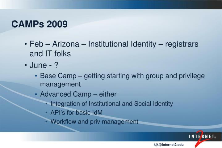 CAMPs 2009