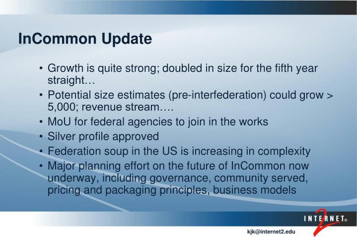 InCommon Update