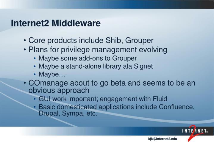 Internet2 Middleware