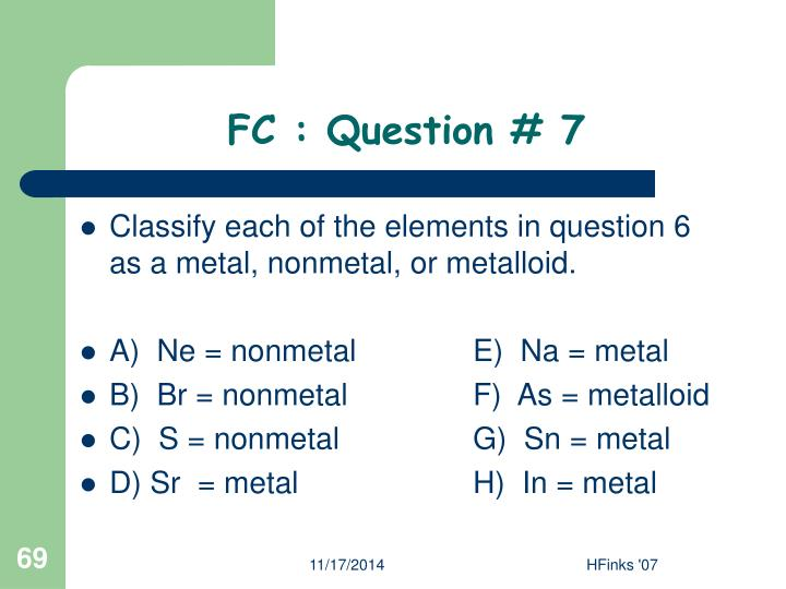 FC : Question # 7