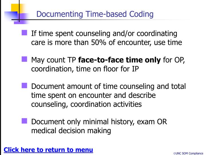 Documenting Time-based Coding