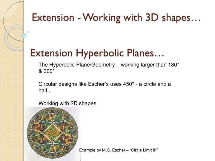 Extension Hyperbolic Planes…