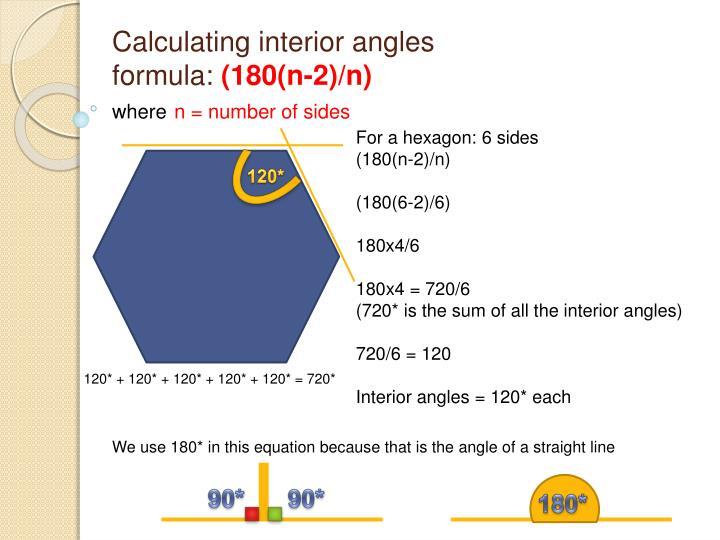 Calculating interior angles