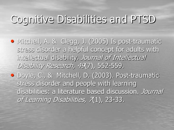 Cognitive Disabilities and PTSD
