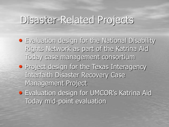 Disaster-Related Projects