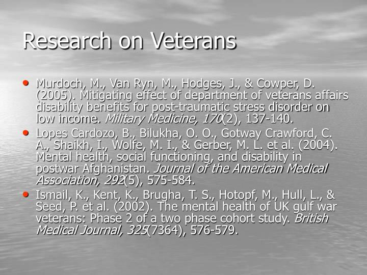 Research on Veterans