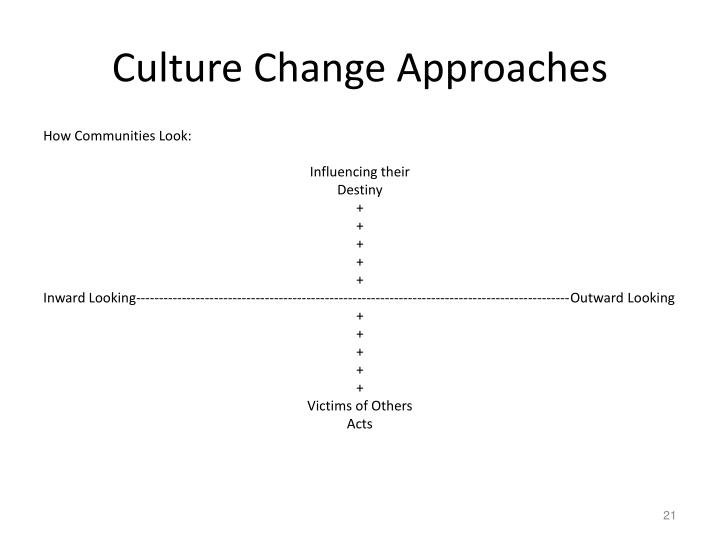 Culture Change Approaches