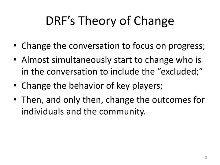 DRF's Theory of Change