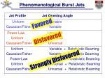phenomenological burst jets2