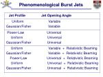 phenomenological burst jets3