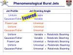 phenomenological burst jets9
