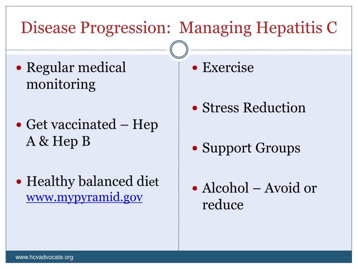 Disease Progression:  Managing Hepatitis C