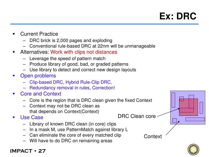 DRC Clean core