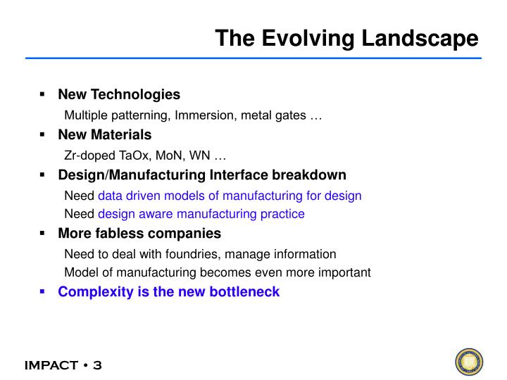 The Evolving Landscape