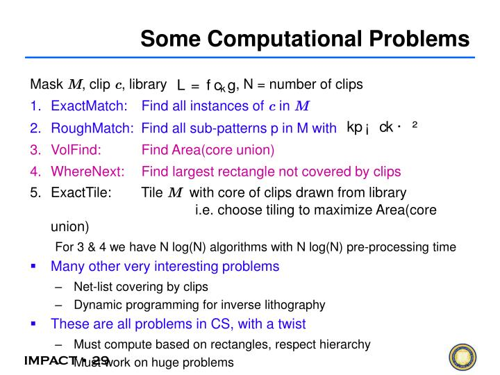 Some Computational Problems