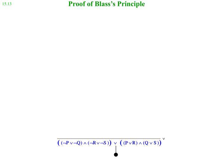 Proof of Blass's Principle