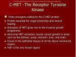 c met the receptor tyrosine kinase