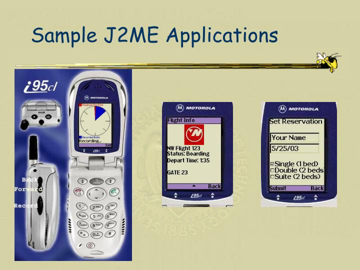 Sample J2ME Applications