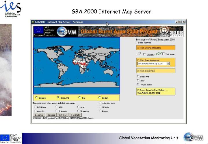 GBA 2000 Internet Map Server