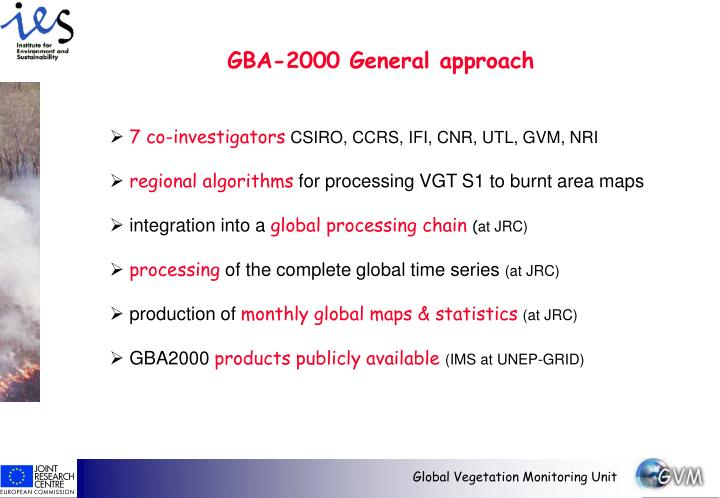 GBA-2000 General approach