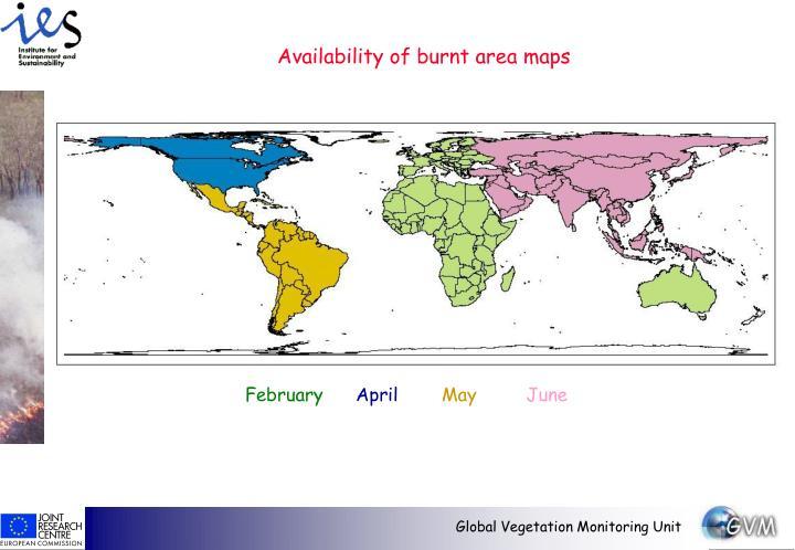 Availability of burnt area maps