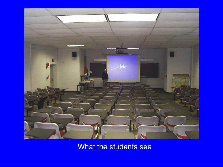 What the students see