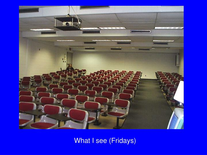 What I see (Fridays)