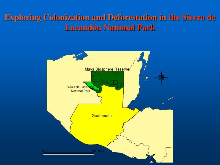 Exploring Colonization and Deforestation in