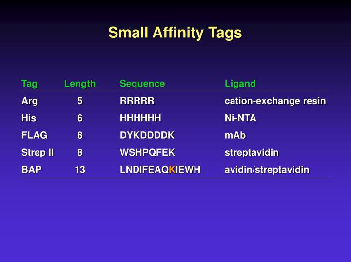 Small Affinity Tags