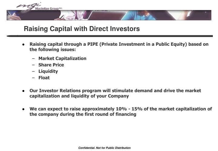 Raising Capital with Direct Investors