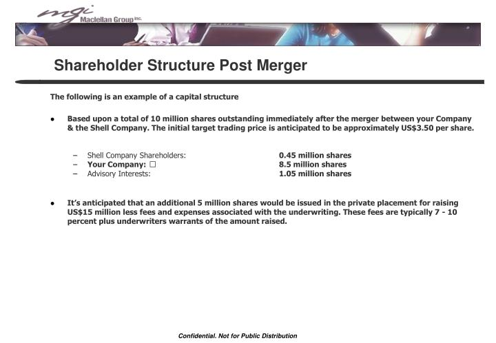 Shareholder Structure Post Merger