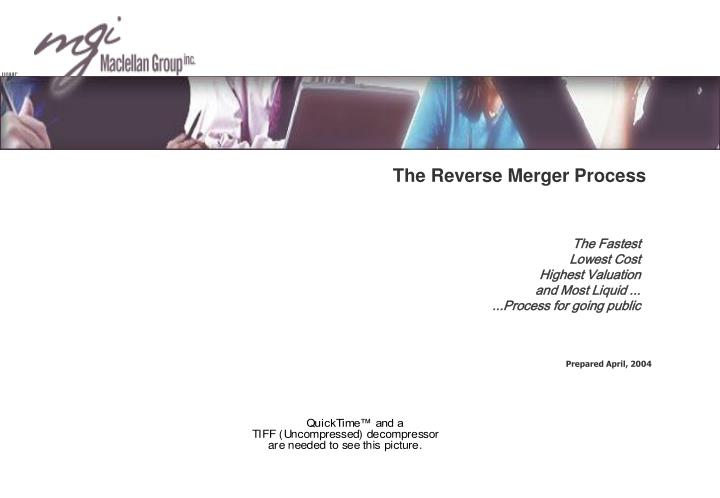 The reverse merger process