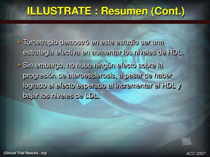 ILLUSTRATE : Resumen (Cont.)