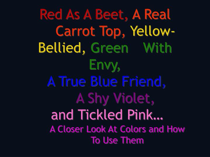 Red As A Beet,