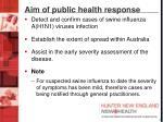 aim of public health response