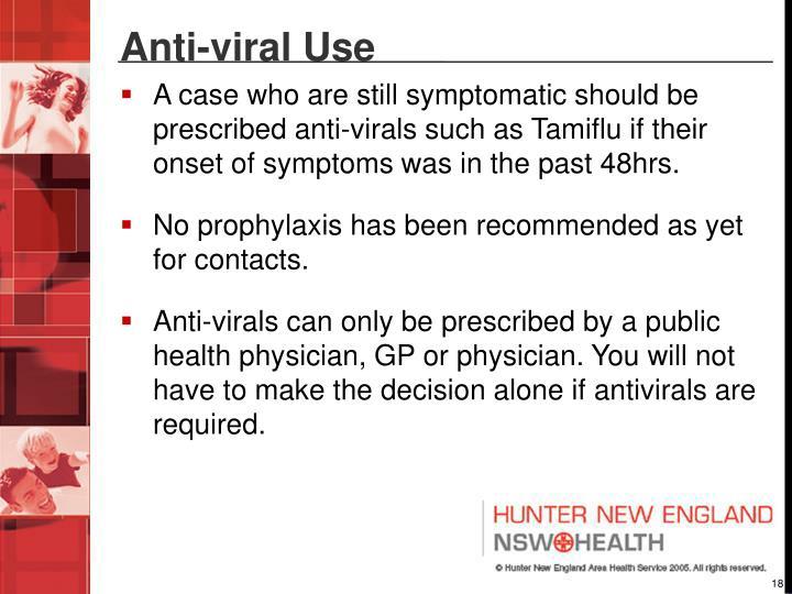 Anti-viral Use