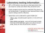 laboratory testing information