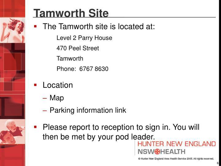 Tamworth Site