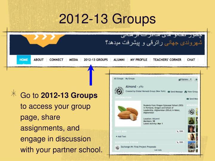 2012-13 Groups
