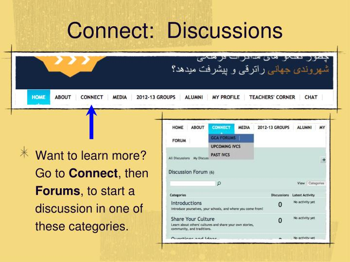 Connect:  Discussions