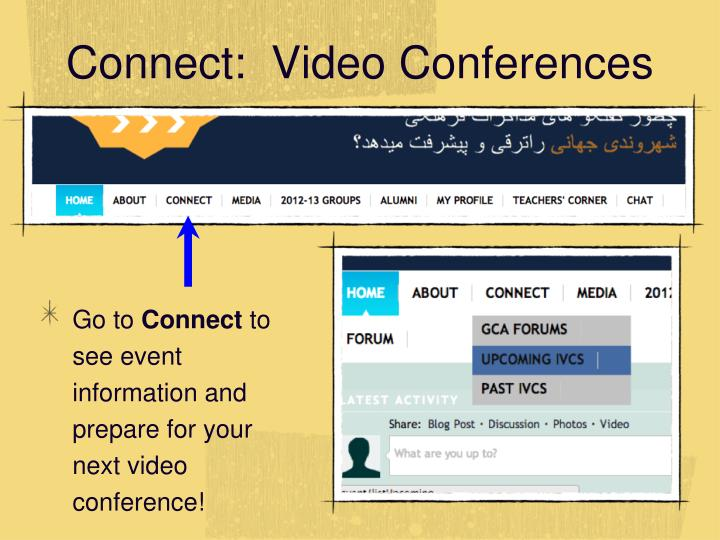 Connect:  Video Conferences