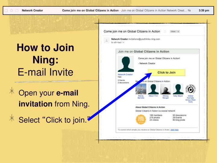 How to Join Ning: