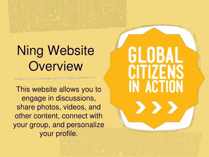 Ning Website Overview