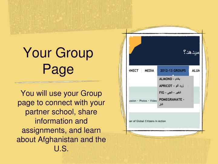 Your Group Page