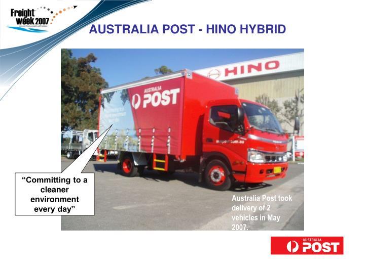 AUSTRALIA POST - HINO HYBRID