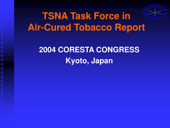 tsna task force in air cured tobacco report