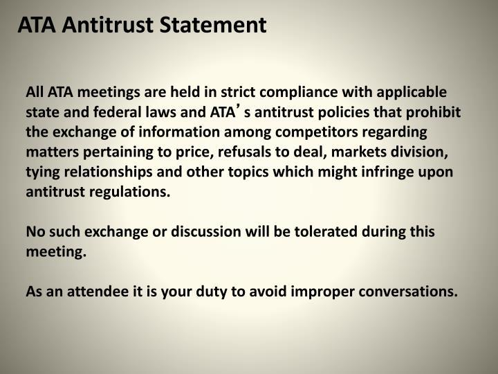 ATA Antitrust Statement