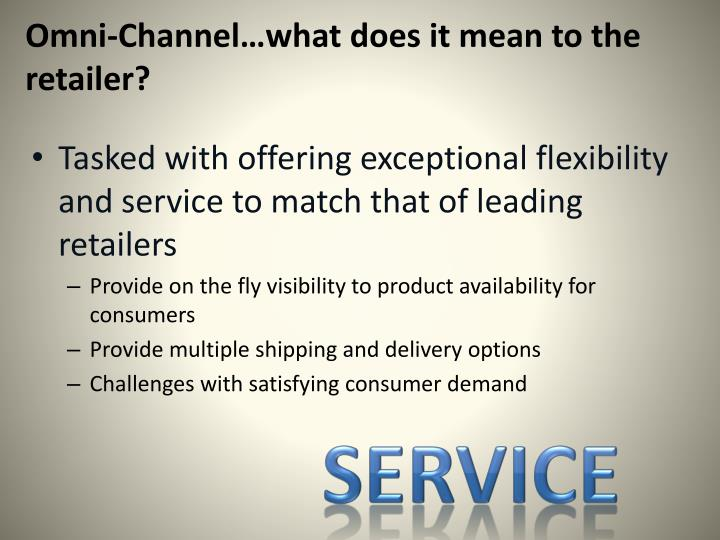 Omni-Channel…what does it mean to the retailer?